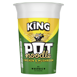 JPEG - Pot Noodle Chicken and Mushroom King Pot 114g