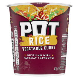 Pot Noodle Pot Rice Vegetable Curry Snack Pot 87gr
