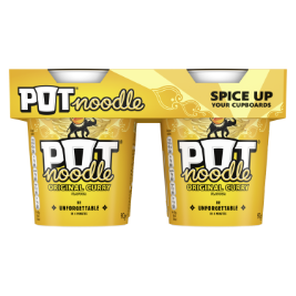JPEG - Pot Noodle Original Curry 4 Pack 4 x 90g